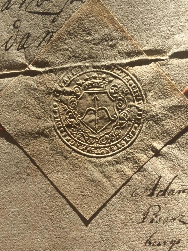 Брэст гербавая райцаўская пячатка 1754 г.