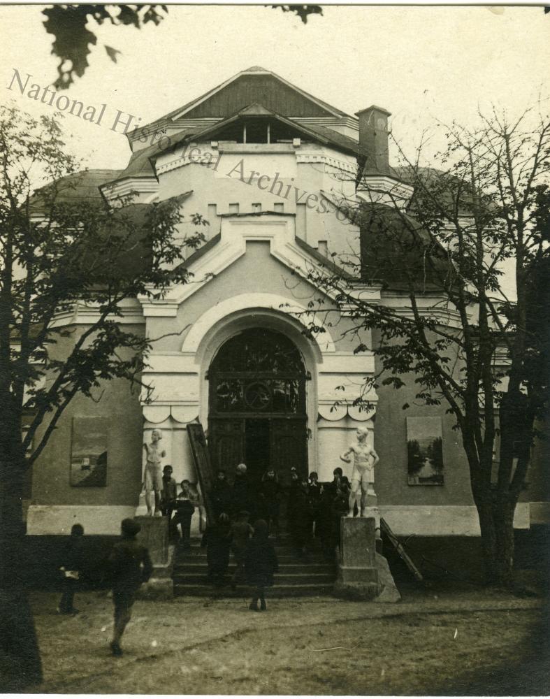 Тупічэўшчына, урочышча Мсціслаўскага павета Магілёўскай губерні. Успенскі жаночы манастыр. Галоўны фасад.