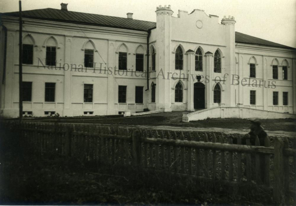 Крычаў, мястэчка Чэрыкаўскага павета Магілёўскай губерні. Палац Г.А.Пацёмкіна. Агульны выгляд галоўнага фасада.