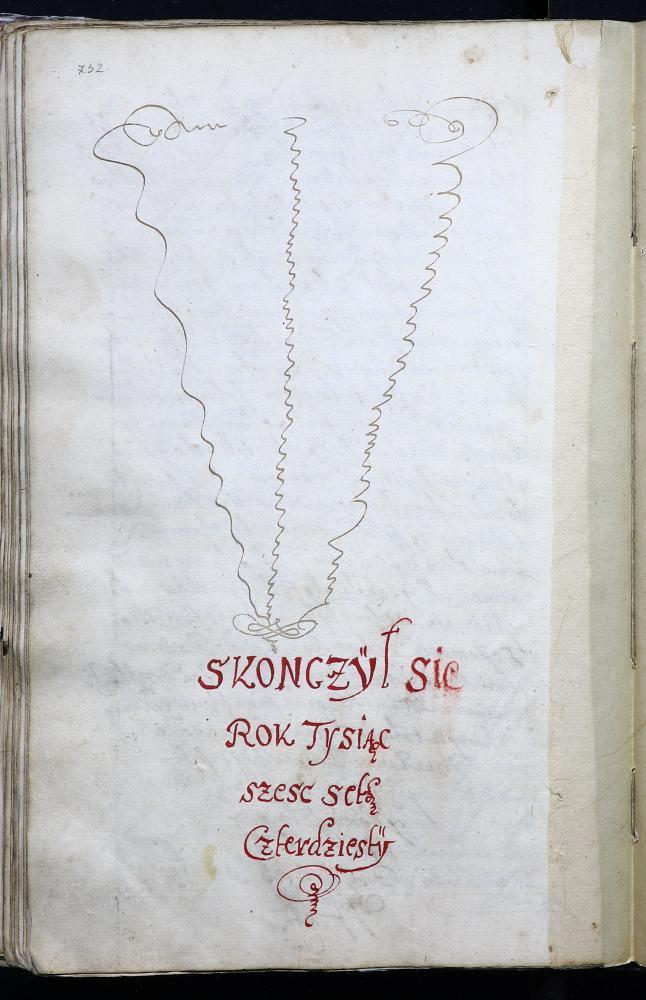 Запіс на заканчэнне пасяджэння Берасцейскага магістрата за 1640 год (польская мова)