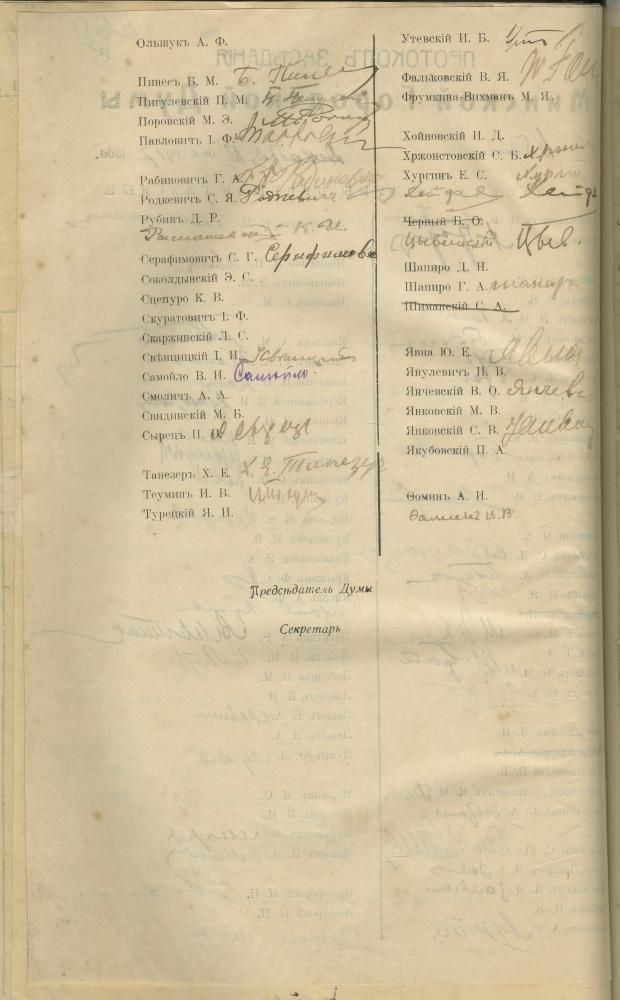 Пратакол паседжання Мінскай гарадской думы ад 18 снежня 1917 года, на якім была прынята заява з пратэстам супраць разгону Першага Усебеларускага З'езда