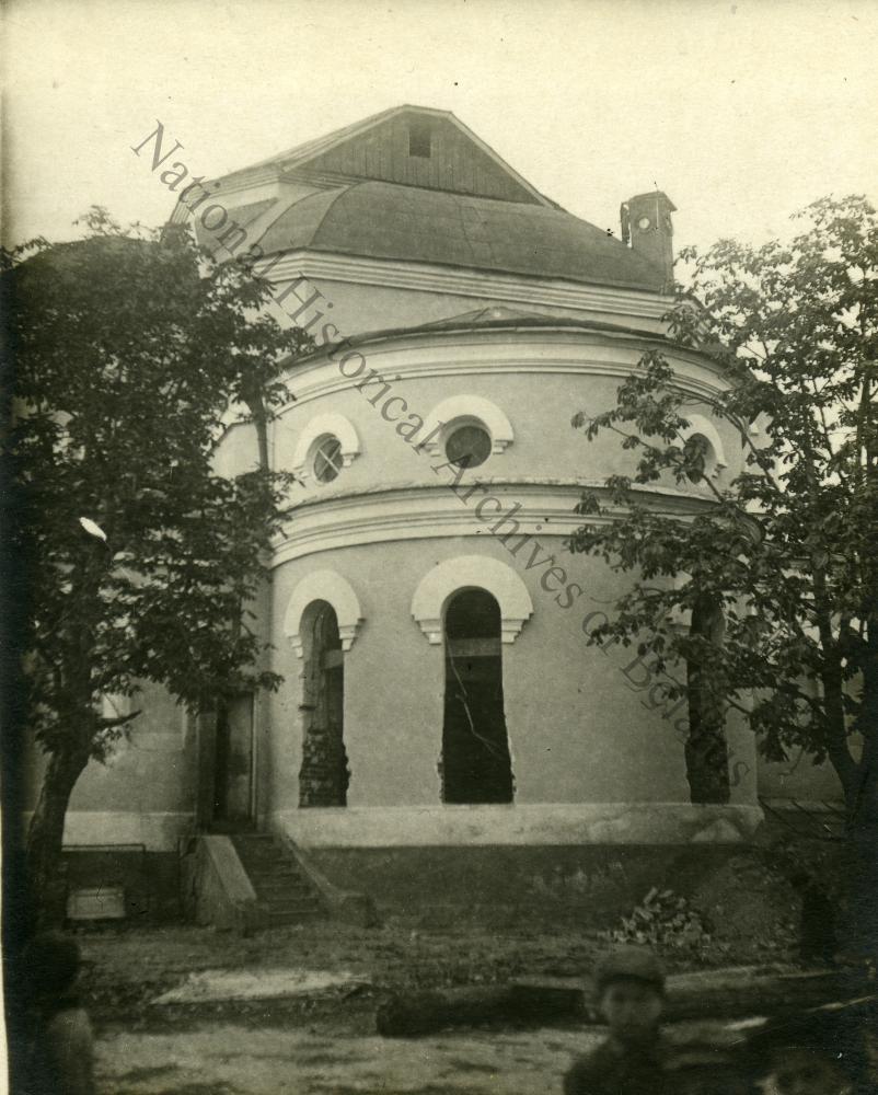 Тупічэўшчына, урочышча Мсціслаўскага павета Магілёўскай губерні. Успенскі жаночы манастыр. Бакавы фасад.
