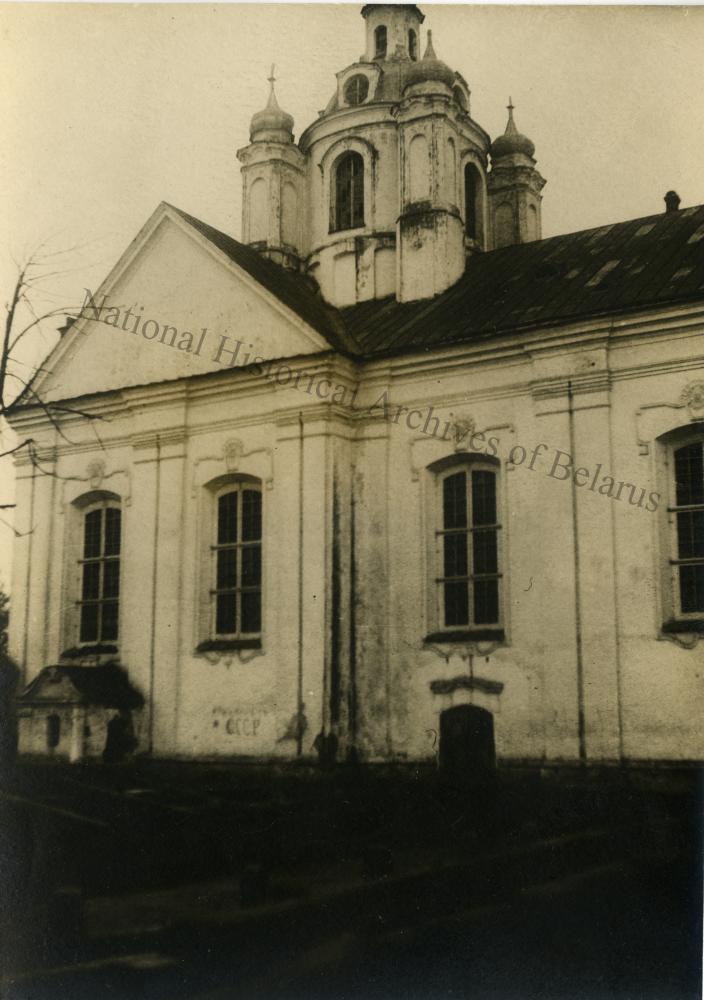 Магілёў, горад Магілёўскай губерні. Спаса-Праабражэнская царква. Бакавы фасад.