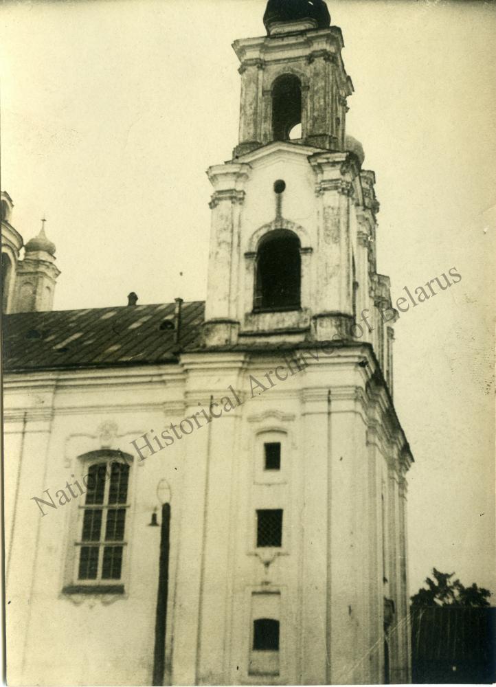 Магілёў, горад Магілёўскай губерні. Спаса-Праабражэнская царква. Выгляд галоўнага фасада збоку.