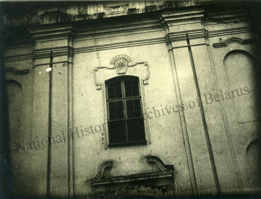 Магілёў, горад Магілёўскай губерні. Спаса-Праабражэнская царква. Дэталь галоўнага фасада.