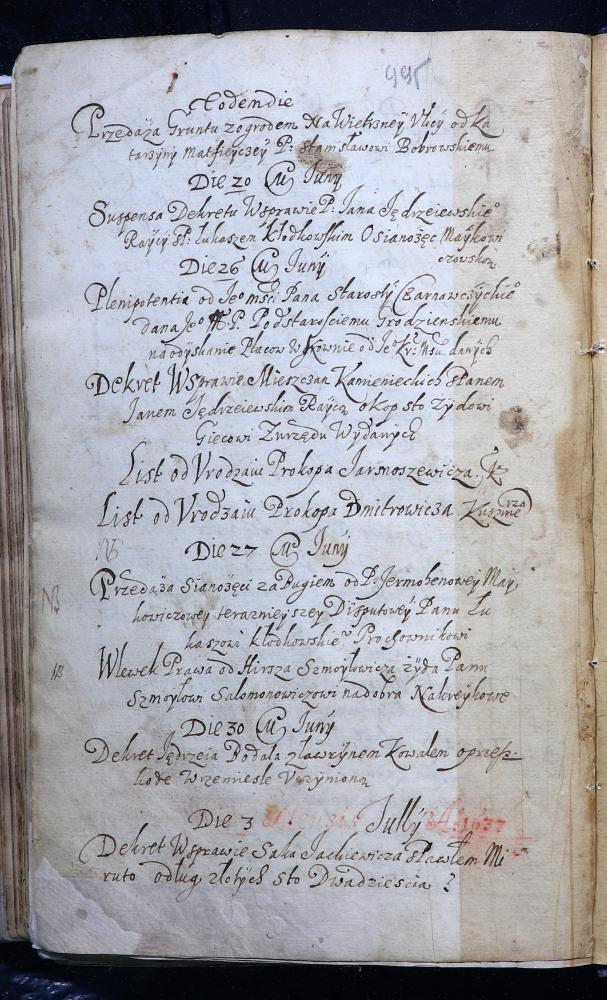 Рэестр спраў кніг Берасцейскага магістрата за люты–жнівень 1637 года (польская мова)