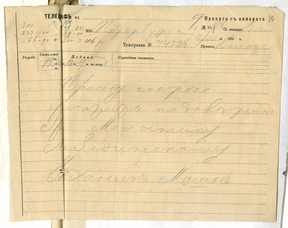 Справа Мінскай гарадской управы за 1882—1889 гады аб стварэнні тэлефоннай сувязі ў Мінску паміж будынкам пажарнай каманды і гарадской каланчой
